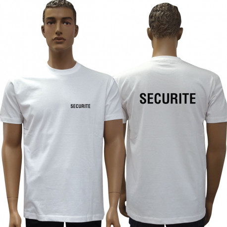 tee shirt securité blanc
