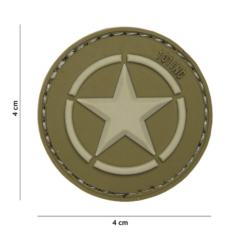 Patch 3D PVC Allied star green #18046