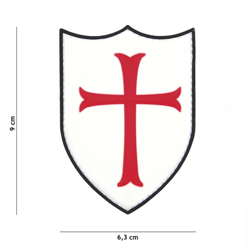 Patch 3D PVC Crusader white #20027