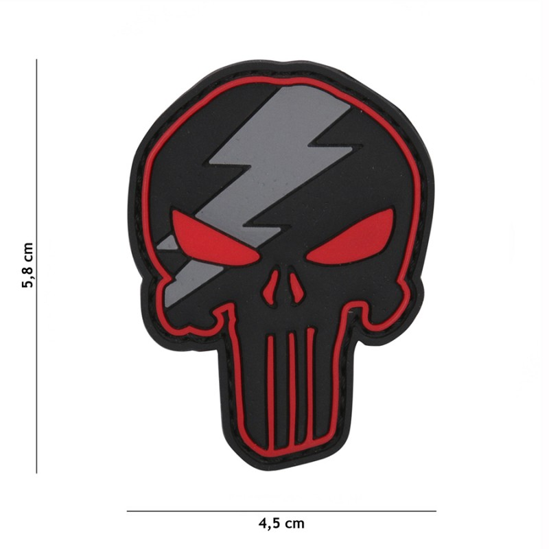 Patch 3D PVC Punisher thunder red #12056