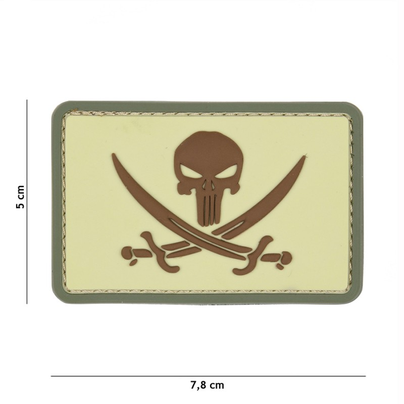 Patch 3D PVC Punisher pirate coyote #9046