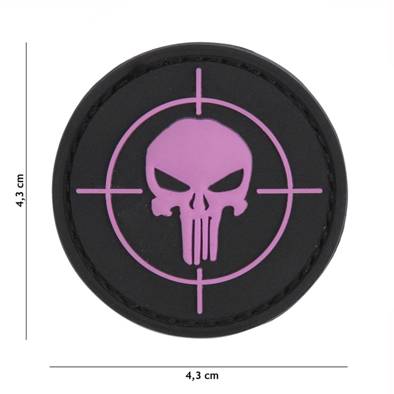 Patch 3D PVC Punisher sight pink #9032
