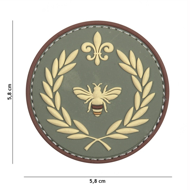 Patch 3D PVC Napoleon bee green #11130
