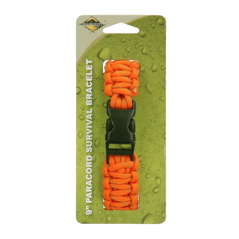 Bracelet Paracord BCB 9 inbch couleur orange CM073OR