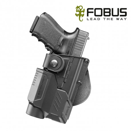 HOLSTER RIGIDE POLYMERE PR GLOCK 17/22/31 PLUS LIGHTHOUSES II ET III