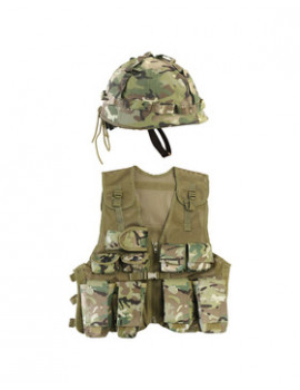 KIDS ASSAULT VEST AND HELMET SET - BTP
