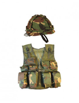 KIDS ASSAULT VEST AND HELMET SET - DPM