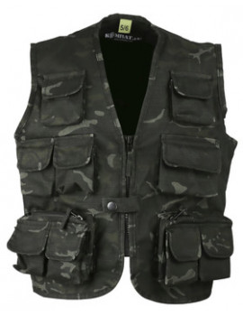 KIDS TACTICAL VEST - BTP BLACK