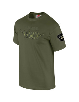 TEE-SHIRT FIND YOUR LIMIT CAMO VERT OD